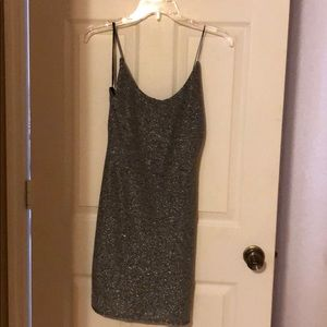 Forever 21 silver knit dress
